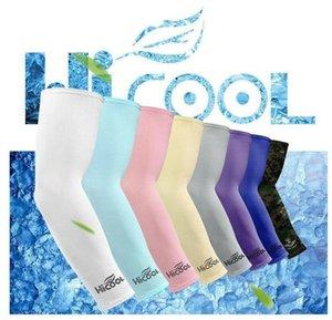 Охлаждение рукав Unisex Спорт ВС Блок Anti UV защита рукав поводковый рукав охлаждение втулка 2pcs кнопка Корпус / пара DHB3