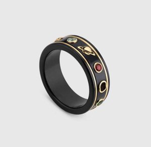 anneaux noirs de mode pour moissanite anillos Bague hommes et femmes fiançailles mariage cadeau amant de bijoux