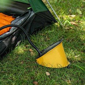 야외 발 펌프 캠핑 여행 휴대용 페달 공기 펌프 팽창기 패드 캠핑 매트 매트리스 풍선 풍선