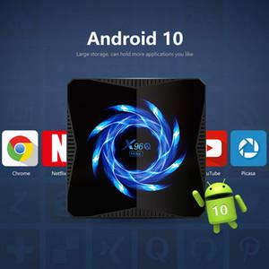 X96Q MAX الروبوت 10.0 TV صندوق 4GB 32GB / 6GB 2.4G 5G واي فاي بلوتوث H616 ALLWINNER 4K 6K 1000M ميديا بلاير