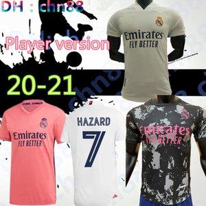 플레이어 버전 20 (21) 레알 마드리드 위험 축구 유니폼 2020 2021 레알 마드리드 유니폼 벤제마 세르히오 라모스 KROOS (19 개) (20) 축구 유니폼