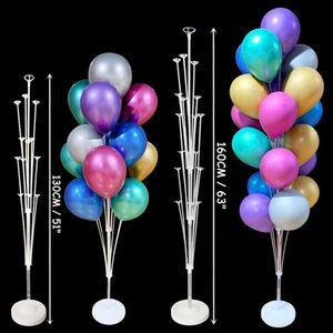 1Set 7/19 tubo Balloons Holder stand Balloon Colonna bambini bambino festa di compleanno con doccia rifornimenti decorazione di nozze