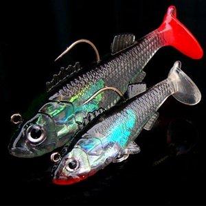 Üç çapa kanca false false ler tek kanca Yumuşak Yem suni yem balıkçılık dişli balıkçılık ile Kurşun kaplı balık 8 g / 15g Luya sahte