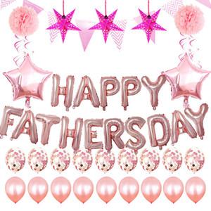 del padre del globo Carta Día Conjunto Látex Globos padre feliz fiesta de cumpleaños Carta Día del papel de aluminio globos Decoración de la boda antes de Cristo BH1413