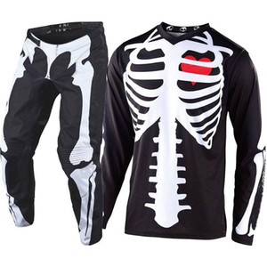 2020 LIMITED EDITION SKULLY ATV Dirt Bike Jersey e Pant Motocross Gear Set MX Moto Kit Supercross Enduro Jersey Set Guanti M