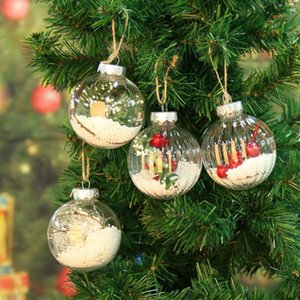 Bola del árbol de Navidad Adornos colgantes de bola transparente Decoración de Navidad para el hogar Accesorios de Navidad del partido