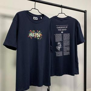 Kith JARDINS DA MENTE II Tee homem mulheres ocasional t-shirt manga curta UNIQLO Sesame Street L moda roupa tees outwear tee encabeça qualidade