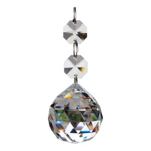 Crystal Glass Ball Chandelier Prisms Pendants Parts Beads 30mm Clear Christmas Ornaments Decoration DEC573
