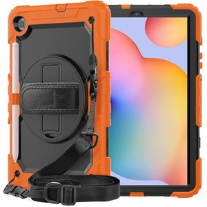 For Samsung Galaxy Tab S6 Lite 10.4inch P610 P615 Case 360° Full Body Protect Cover Casing Built in Screen Protector+Stand+Shoulder Strap