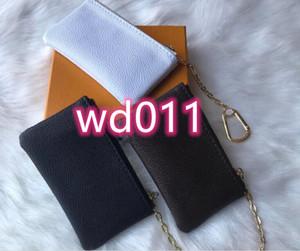 kutu 6 renk KEY pu deri ile yüksek kaliteli ünlü klasik kadın anahtarlık bozuk para cüzdanı küçük deri eşyalar torbayı tutan