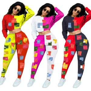womens sportswear long sleeve pantsuit outfits 2 piece set pullover + legging women clothes sportsuit new hot sale womens clothing klw4436