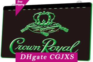 Ls0018 Crown Royal Derby Whisky Beer Bar Rgb Multiple Color Fern 3D-Steuerung Stich Led Neon-Licht-Zeichen-Shop Bar Pub-Club