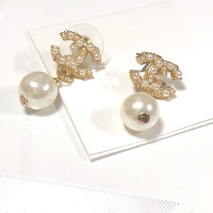 new designer jewelry women earrings single pearl stud earrings top quality high-end elagant round stud fashion style
