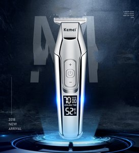 Kemei Barber Professional Hair Clipper Lcd Display 0Mm Baldheaded Beard Hair Trimmer For Men Diy Cutter Electric Haircut Machine dhzlstore d