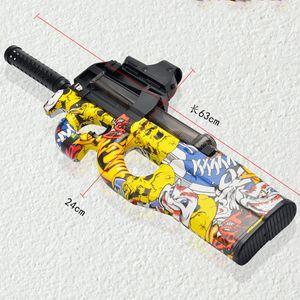 Электрический водяной пистолет P90 граффити мальчиков Подарки Shoot гидрогеля Гель Бал Polymer Вода игрушки на открытом воздухе CS игры Sniper игрушки для детей Y200728