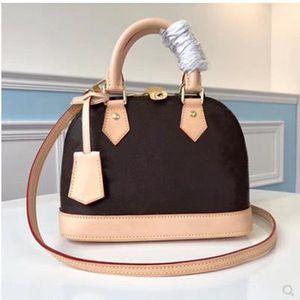 Haute qualité Womens véritable coquille en cuir Sacs Hommes alma BB MINI Sacs à main ont le sac à poussière Portefeuilles ont clé Livraison gratuite