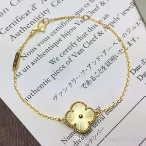 hot sale 18k gold single flower clover Bracelet luxury desinger jewelry women bracelets silver fashion jewelry top brand