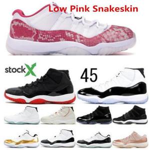 Jumpman la piel de serpiente Bred 11 11s zapatillas de baloncesto de zapatos tapa y bata de atasco del espacio heredera Negro Platino Tint mujeres de los hombres zapatillas de deporte US5.5-13