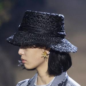 Trendy padrão oco Mulheres Straw Hat férias Últimas Lafite Senhora elegante Personalidade Chapéus Verão Charme meninas chapéus da praia LJJA4320