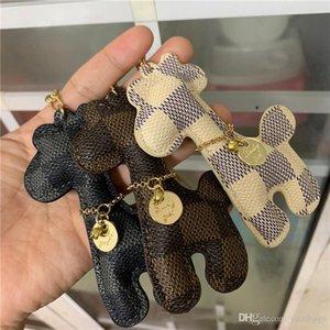 Cartoon Giraffe Key Rings Car Fashion Key Charm Pendant Creative Gift Key Chain for Man Women PU Leather Animal Bag Keyring Keychains Holder