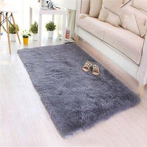Soft Carpet Livingroom 1 PC 40*60CM Fluffy Rugs Anti-Skid Shaggy Area Rug Dining Room Home Bedroom Carpet Floor Mat