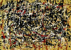 Jackson Pollock drip style Home Decor Handpainted &HD Print Oil Painting On Canvas Wall Art Canvas Pictures 200730