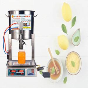 machine de remplissage liquide automatique petit lait huile de machine miel de remplissage du miel domestique de sésame pesant machi de remplissage quantitative