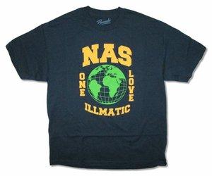 NAS Globe One Love Illmatic Lacivert Tişörtlü Yeni Resmi
