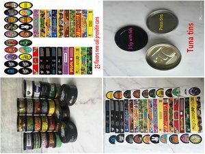 Hot 24 Flavors Hologram Sticker For 35 Gram 60Ml Thin Mint Cookies Plastic Jar Tank Dry Herb Flower Container With Flavor Stick mylovethome