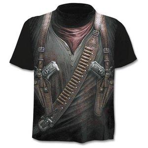 2019 New Cloudstyle Own Design Men's T shirt 3D Gun Warrior Tshirt Print Knife Harajuku Tops Tee Short Sleeve Fitness t-shirt