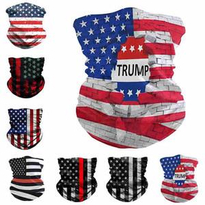 Trump Masques Visage Drapeau américain Impression 3D Echarpes Digital Magic Turban Riding Mode de protection Designer Masque Visage CYZ2540