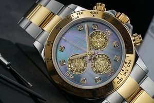 40mm men watch colorful oyster pearl shell dial wristwatch sapphire chronograph 116509 BL BLF Best Edition Bracelet 4130 automatic watches