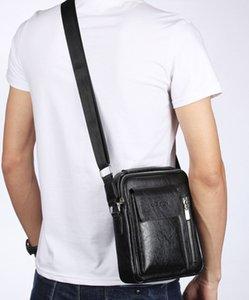 2020 Мужчины Сумка Новая мода Pu Бизнес плечо Сумки Урожай HighQuality Puleather мужчина Messengerbag Бизнес Corssbody сумки