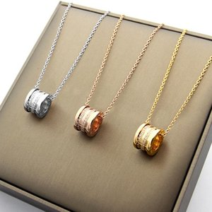 Cylinder thread diamond necklace 18K gold foreign trade Necklace