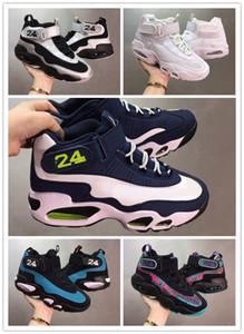 Griffey 1 Chaussures de basket-ball de retour d'eau douce InductKid Triple Blanc Varsity royal Ken Griffey InductKid Hommes Sport Chaussures Griffey Max