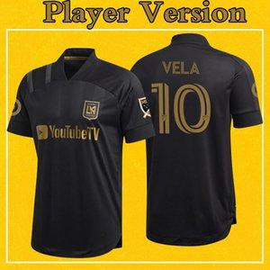 LAFC versión del jersey del jugador de la MLS 2020 camiseta de fútbol Inicio Negro de Los Angeles FC VELA ROSSI Wright-Phillips Más 10pcs envío libre de DHL