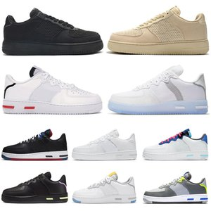 nike stussy air force airforce forces 1 af1 react hommes femmes chaussures de course Light Bone White Black Red outdoor hommes femmes formateurs sports sneakers runners