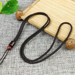 Sandalwood thickened and lengthened jade pendant accessories accessories superior lanyard lanyard craft gift Plus