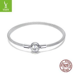 S925 prata pulseira feminina amor eterno versão coreana de moda simples Y19051403 cadeia base de DIY manual