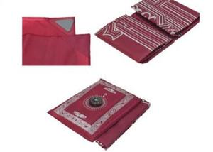 100*60cm Islamic polyester travel pocket prayer mat , muslim prayer rugs, praying prayer carpet with compass