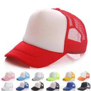 Tasarımcı Şapkalar 5 Paneller Boş Kamyon Şoförü Cap Mesh Beyzbol Erkekler Kadınlar Güneş Şapkalar için Ayarlanabilir Yaz Spor Güneş Caps Şapka