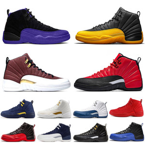 12s chaussures de basket-ball FIBA ​​noir Concord hiberné WNTR mens Game jeu Royal grippe baskets de sport d'athlétisme