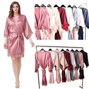 Wedding party bride Lace dress Formal dress bridesmaid robe matte lace robe A9007 average size
