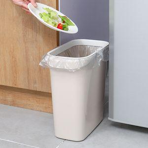 Bathroom Kitchen Gap Trash Can Household Uncovered Plastic Ring-Type Wastepaper Basket Rectangular Gap Trash Can