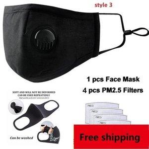 VbBMO Gesicht Einstellbare Masken Maske Anti-Staub-DHL im Freien Innen Freie Wiederverwendbare Wiederverwendetes Filterschutz mit PM2.5 Filter Mund Sm