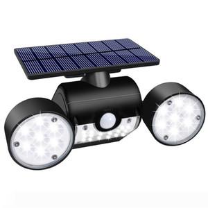 Solar Lights Outdoor, 30 LED Solar Security Lights with Motion Sensor Dual Head Spotlights IP65 Waterproof for Front Door Yard Garden