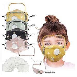 Koruyucu Kalkan Öğrenci PM2.5 Koruyucu Face ile Çocuk Pamuk Yüz Maskesi Çocuk Yıkanabilir Nefes Kumaş Maskeleri DHB511 Maske