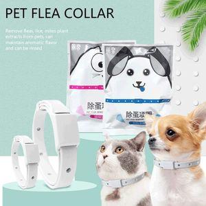 Dog & Cat Collar 8 Month Flea & Tick Prevention Collar Anti Flea Ticks Mosquitoes Silicone Adjustabl