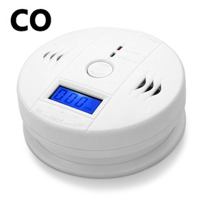 Hot CO Carbon Alarm Monoxide Gas Sensor Monitor Poisoning Detector Tester For Home Security Surveillance Without Battery
