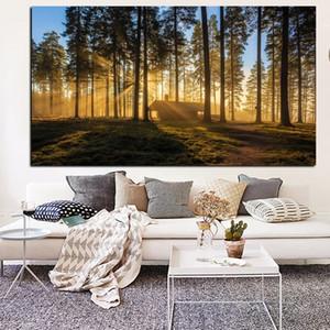 Giapponese di Kyoto La Foresta alba della pittura a olio naturale Landscape Art Poster Stampe arte della parete per il salone della decorazione della casa moderna